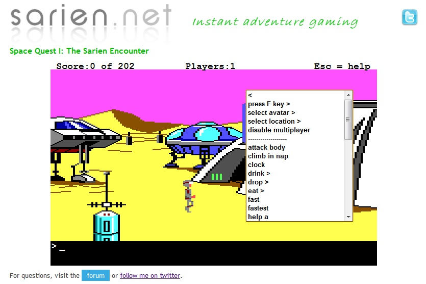 Screen shot by RZFeeser - Space Quest