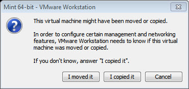 VMware can be a little bit nosy, but it means well (above).