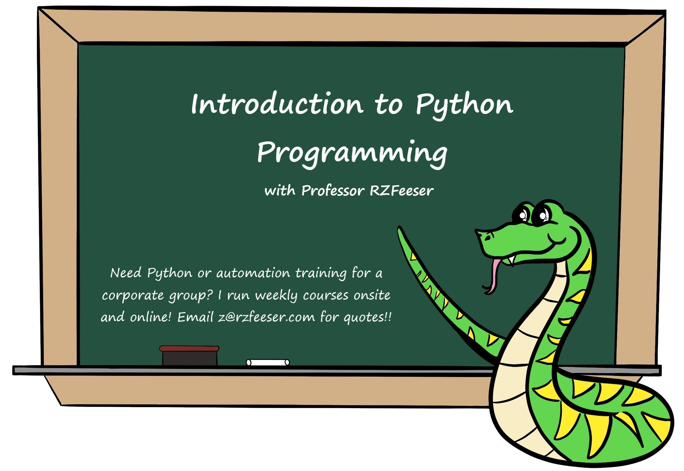 Introduction to Python Programming with RZFeeser