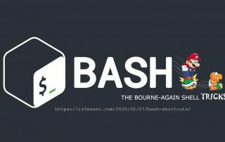 Helpful bash shortcuts